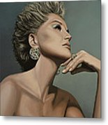 Sharon Stone Metal Print