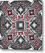 Sharp Optical Art J Metal Print
