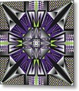 Sharp Tile Art D Metal Print