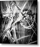 Shatter - Black And White Metal Print