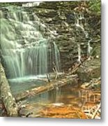 Shawnee Falls At Ricketts Glen Metal Print
