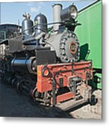 Shay Engine 12 In The Colorado Railroad Museum Metal Print