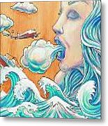She Blows Metal Print by Reid Jenkins