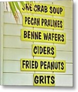 She Crab Soup And Fried Peanuts Metal Print