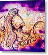 She Rose From Fire  Metal Print