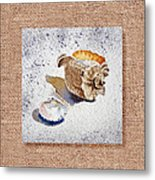 She Sells Sea Shells Decorative Collage Metal Print