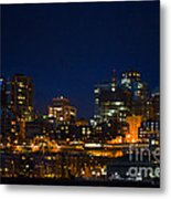 She Sparkles In The Night Metal Print