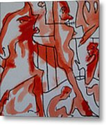 She Was Fed To Death  By Animals 2009 Metal Print