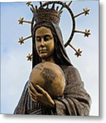 She Watches Over The World Metal Print