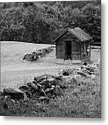 Shed  And Rock Wall Metal Print