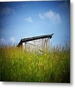 Shed In Field Metal Print by Joyce Kimble Smith