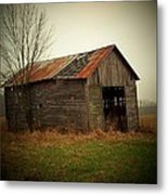 Shed In Pasture Metal Print by Michael L Kimble