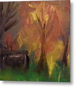 Shed In The Woods Metal Print