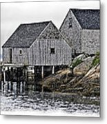 Sheds At Peggys Cove Metal Print