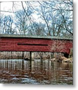 Sheeder - Hall - Covered Bridge Chester County Pa Metal Print