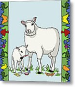 Sheep Artist Sheep Art II Metal Print