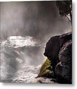 Sheep Falls Mist Metal Print