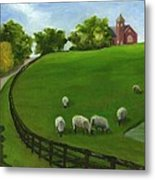 Sheep May Safely Graze Metal Print