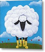 Sheep Nursery Art Metal Print