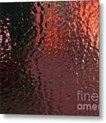 Sheet Of Solid Ice Looking Out Metal Print