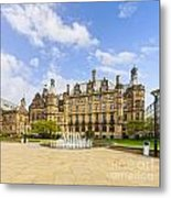 Sheffield Town Hall And Fountain Metal Print by Colin and Linda McKie