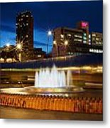 Sheffield Water Feature Metal Print