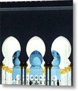Sheikh Zayed Grand Mosque - Abu Dhabi - Uae Metal Print