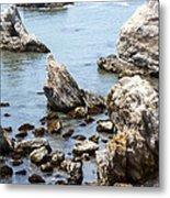 Shell Beach Rocky Coastline Metal Print