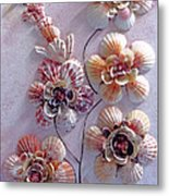 Shell Flowers  No 1  Metal Print