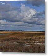 Shell Island To Figure Eight Panorama Metal Print