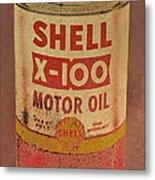 Shell Motor Oil Metal Print by Michelle Calkins