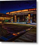 Shell Station Metal Print