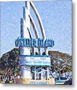 Shelter Island Sign San Diego California Usa Metal Print