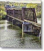 Shelton Derby Railroad Bridge Metal Print