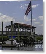 Shem Creek Bar And Grill Metal Print