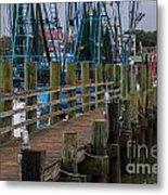 Shem Creek Pier Metal Print