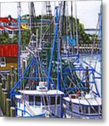Shem Creek Shrimp Boats Metal Print