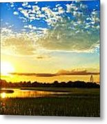 Shem Creek Sunset Metal Print