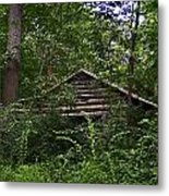 Shenandoah Log Cabin Metal Print