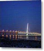 Shenzhen Bay Bridge Metal Print