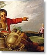 Shepherd Boy Pointing At Tobias And The Angel Metal Print