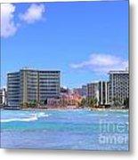 Sheraton And Royal Hawaiian View Metal Print