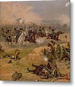 Sheridan's Final Charge At Winchester Metal Print by American School