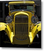 She's Yellow Metal Print
