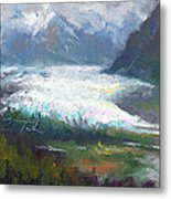 Shifting Light - Matanuska Glacier Metal Print