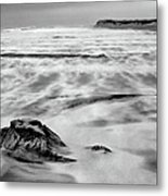 Shifting Sands On Ocracoke Outer Banks Bw Metal Print