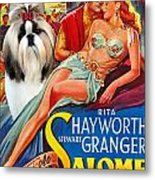 Shih Tzu Art - Salome Movie Poster Metal Print