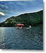 Shikara In Manasbal Lake Metal Print