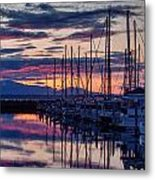 Shilshole Olympic Mountains Sunset Metal Print
