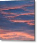 Shimmering Clouds Metal Print